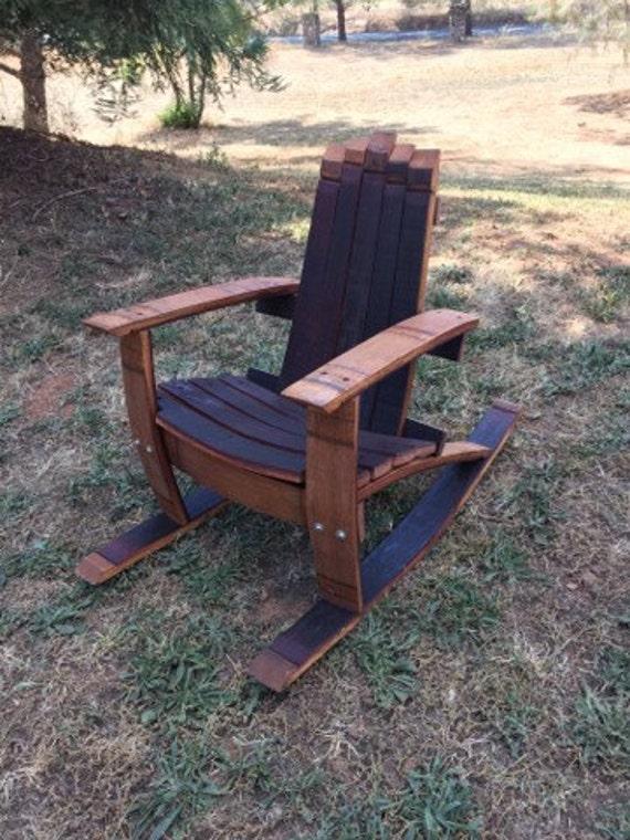 Wine barrel adirondack child 39 s rocking chair woodworking for Wine barrel chair diy