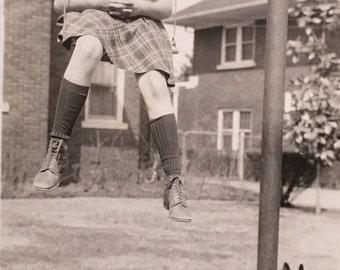 Swinging, Shadow & Bulldog Vintage Photo