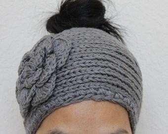 Big crochet headband - ear warmer - knit headband - women headband - knit headwrap - girl winter headband - knit turban - knitted ear warmer