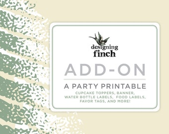 Add-On a Party Printable to Match