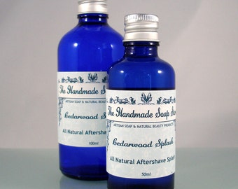 Cedarwood Splash - Natural Alcohol Free Aftershave Splash with Essential Oils 50ml/100ml
