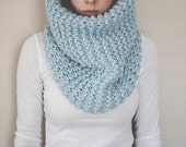 Oversized Cowl // Chunky Knit Cowl // Pullover Snood // Rib Stitch // Cozy Cowl // Infinity Scarf // Extra Large // Pinterest Favorite