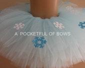 Frozen Tutu, Onederland Tutu Skirt, Snowflake Birthday Blue Toddler Tutu