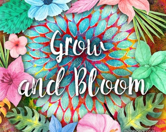 Grow and Bloom: Acrylic Mixed Media Workshop with Mimi Bondi (great for beginners!)