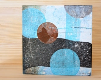 Everyone is a Moon - Original Abstract Acrylic Painting on Wood