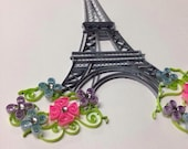 Quilling Art | Eiffel Tower | Paris | framed 8x10