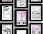 PRINTABLE Philadelphia Landmark Wedding or Event Table Cards - Home Decor Prints