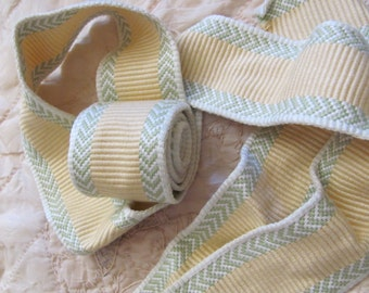 "Thick So Soft Woven Upholstery Trim Edge  - 2"" Inch Wide - 3 yards Total - Original Vintage (08)"