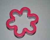 1 Hot Pink Flower Cookie Cutter/Cookie Cutter/Flower Cookie Cutter