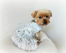 Dog Dress, Dog Clothes, Boutique Pet Clothing, Ruffled Dog Dress, Dog Boutique Dress