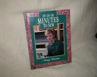 10-20-30-Minutes to Sew Book by Nancy  Zieman