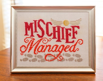 Mischief Managed Cross Stitch Pattern - Digital PDF Downloadable Pattern