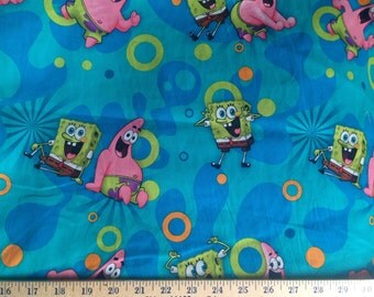 "Fabric Spongebob Squarepants 1/2 yard x 43"" wide new Springs Creative Products"