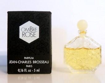 Vintage 1980s Ombre Rose by JC Brosseau 0.16 oz Parfum Mini Miniature Perfume and Box