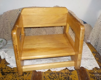 Booster child's Seat, Wood Child's Booster Seat, Child's Table Seat, Child's seat,  Full Country Charm:)S