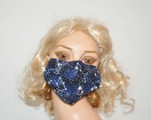 Awesome face mask, glow in the dark, Stars, Surgical face mask, Flu mask, glow in the dark