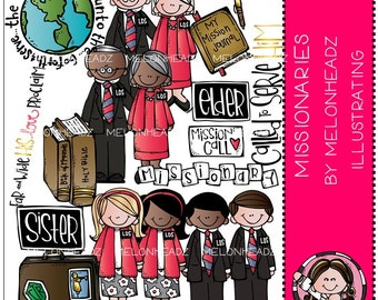 LDS Missionaries clip art