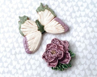 Butterfly & Flower - Mosaic Supply - Ceramic Tiles