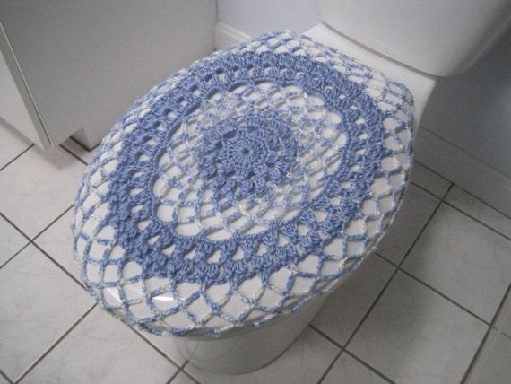Crochet Toilet Seat Cover Or Crochet Toilet Tank Lid Cover