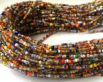 Colourful Handmade African Waist Bead *per one strand*
