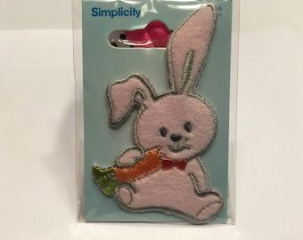 pink bunny Applique, 45 x 70 mm (A1)