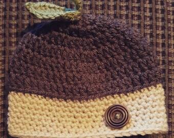 Acorn Baby Crochet Beanie