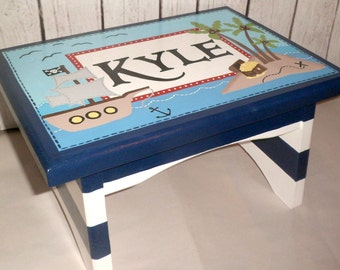 Nautical Step Stool Etsy