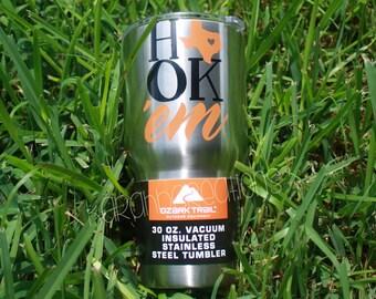 Texas Longhorn 30oz Stainless Steel Vacuum Ozark Trail Tumbler