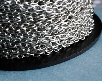 15ft Silver Chain 4.5x6.2mm-unsoldered