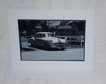 photo card, Classic car photogaph New Mexico