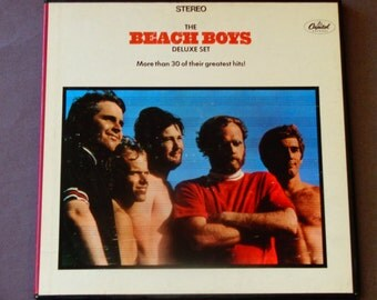 "The Beach Boys Deluxe Set - Greatest Hits - ""California Girls"" Surf Rock - Original Capitol Records 1967 - Vintage Vinyl 3LP Boxed Album Set"