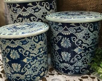 Delft Porcelain Canister Set