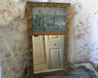 Long thin mirror etsy for Long skinny mirror