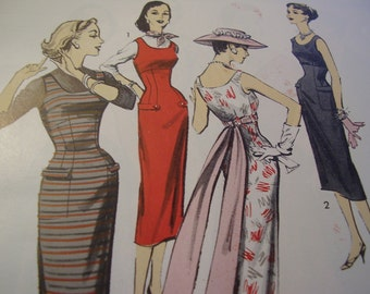 Vintage 1950's Advance 8134 Dress Sewing Pattern, Size 12, Bust 32