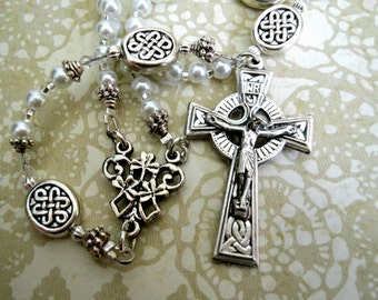 Celtic Child Baptism - First Communion Traditional Five Decade Rosary