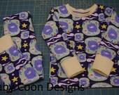 Baby Pajamas Christmas Pajamas baby pjs Winter pjs - Wild Things - size 2T