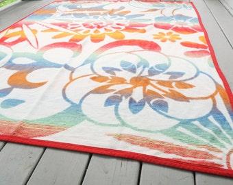 Vintage ORION Camp Blanket Cotton USA
