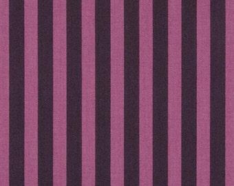 ELIZABETH--Tula Pink--Tent Stripe--Plum--FAT QUARTER