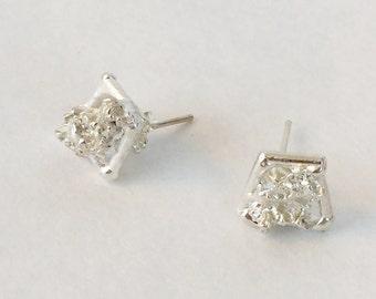 Sterling Silver Shiny Stud Earrings