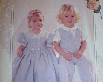 Vintage McCall's Ruffles and Lace Treasured Collection Pattern 8185  Sizes 2-3-4 Available