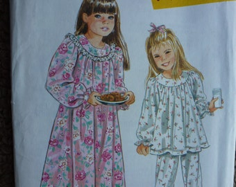 Vintage Simplicity It's So Easy Pattern 9296 for Child's Nightgown and Pajama's Sizes 3-8 Available #2