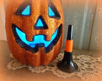 vintage halloween party horn / vintage halloween decoration / orange black
