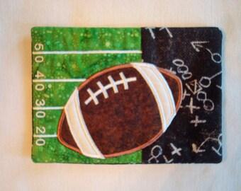 Football Theme Mug Rug/Coaster
