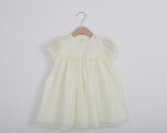 Vintage Baby Dress in Pastel Yellow by Good Lad 24 months
