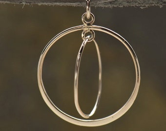Sterling Silver Gyroscope Pendant