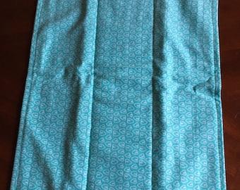 Teal Hearts Burp Cloth