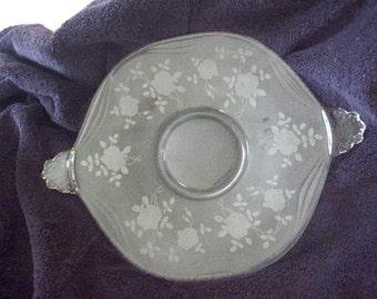 Cambridge Platter - 1930's - Rose Design