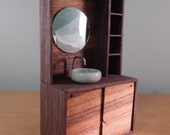 Modern Miniature Dollhouse Vanity with Flaw