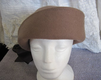 Different 1920's cloche in brown wool