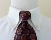 "Vintage Robert Talbott 100% Silk ""NATIVE AMERICAN"" Geometric Print Trad / Ivy League Neck Tie.  Hand sewn in USA."